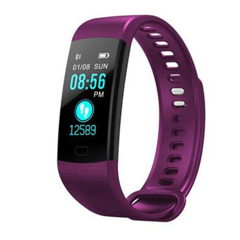 Y5 Color Screen Smart Wristband-Purple