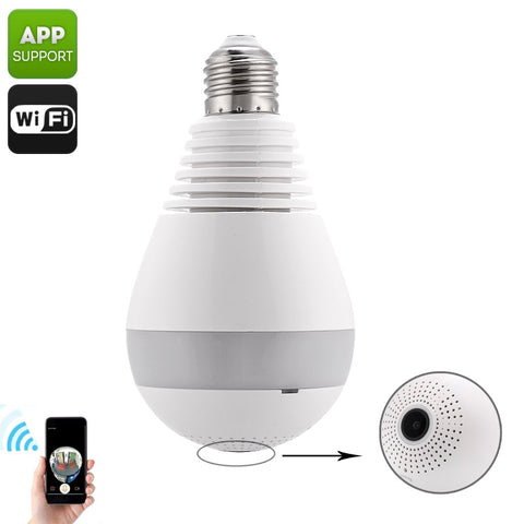 360-Degree IP Camera Light Bulb