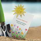A Sunny Beginning Card With Seed Paper Sun - Marry Me Wedding Accessories & Gifts