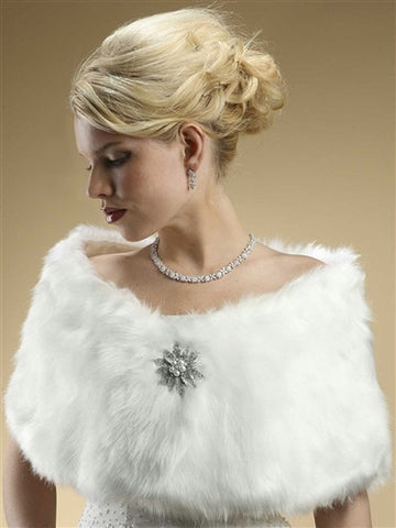 Faux Fur Bridal Wrap - Marry Me Wedding Accessories & Gifts
