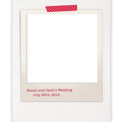 Polaroid Personalized Photo Backdrop - Marry Me Wedding Accessories & Gifts