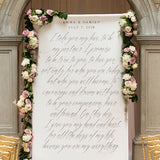 Modern Fairy Tale Personalized Premium Canvas Backdrop - Marry Me Wedding Accessories & Gifts - 2