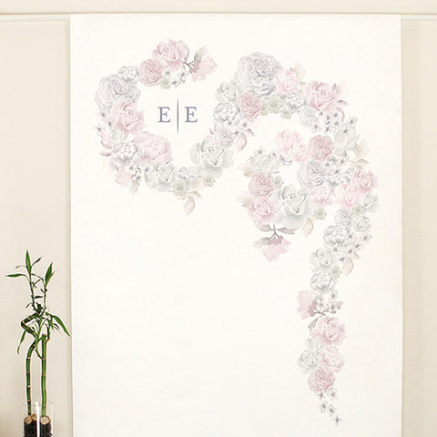 Floral Dreams Personalized Canvas Photo Backdrop - Marry Me Wedding Accessories & Gifts