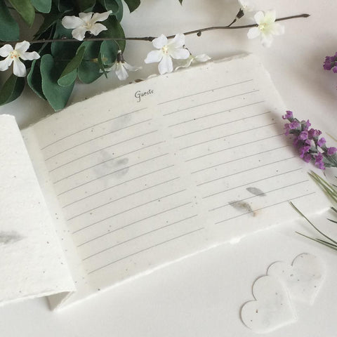 Handmade Paper Guest Book - Leather Fern - Marry Me Wedding Accessories & Gifts
