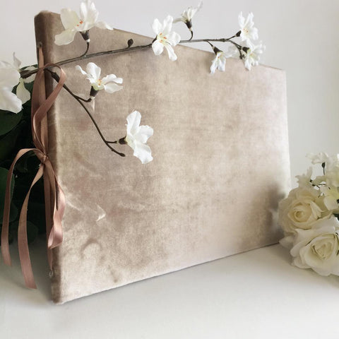 Artisan Velvet Wedding Guest Book or Photo Album - Special Half Off - One Only - Marry Me Wedding Accessories & Gifts
