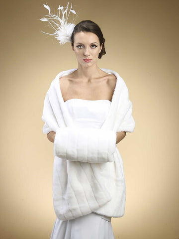 Pelted Faux Mink Stole - Marry Me Wedding Accessories & Gifts - 1