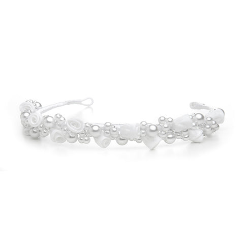 Child's White/Silver Floral Headband or Tiara - Marry Me Wedding Accessories & Gifts
