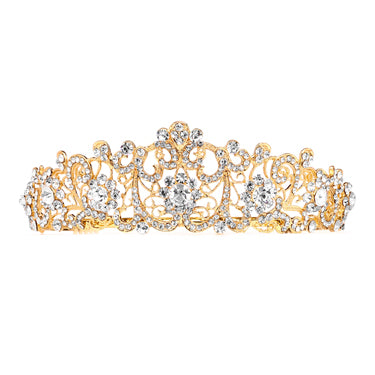 Graceful Scrolls Crystal Bridal Tiara - Marry Me Wedding Accessories & Gifts