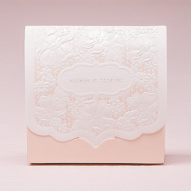 Pretty Lace Favor Box - Blush - Marry Me Wedding Accessories & Gifts - 1