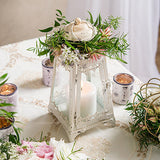Metal & Glass Pyramid Lantern - Marry Me Wedding Accessories & Gifts