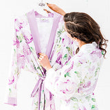 Watercolor Floral Silky Kimono Robe - Small / Medium, L/XL - Marry Me Wedding Accessories & Gifts - 5