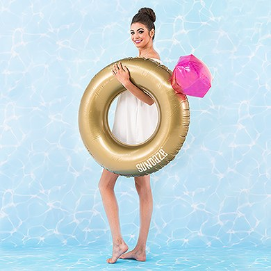 Diamond Ring Inflatable Pool Float - Marry Me Wedding Accessories & Gifts