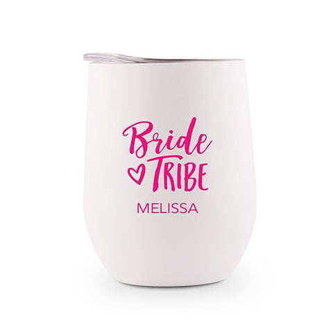 Personalized Stemless Travel Tumbler - Bride Tribe or I Do Crew - Marry Me Wedding Accessories & Gifts