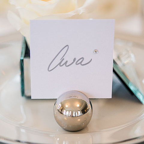 Classic Round Place Card Holders - Silver or Brushed Gold - Marry Me Wedding Accessories & Gifts