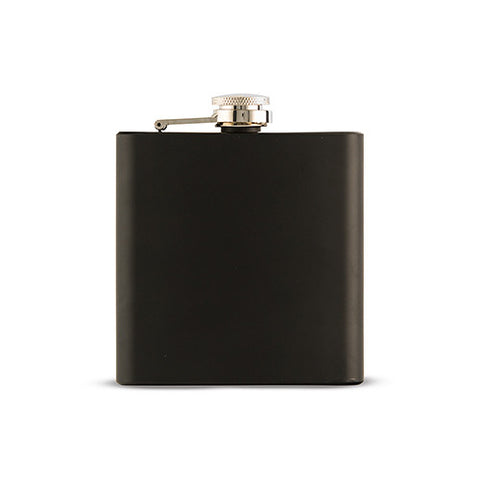 Black Coated Flask - Marry Me Wedding Accessories & Gifts