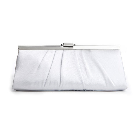 Sleek Framed Satin Wedding Purse - Champagne, Ivory or White - Marry Me Wedding Accessories & Gifts - 1