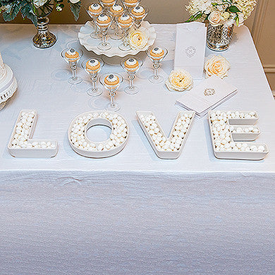 Wedding Reception LOVE Plates Accessory - Marry Me Wedding Accessories & Gifts - 1