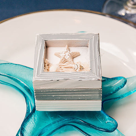 Beach Theme Wooden Trinket Boxes - Marry Me Wedding Accessories & Gifts