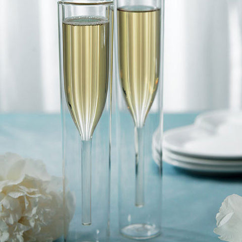 Hollow Stem Wedding Champagne Flutes - Marry Me Wedding Accessories & Gifts - 1