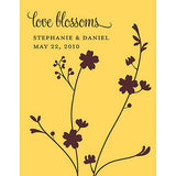 Love Blossoms Personalized Garden Wedding Favor Card With Two Seeded Paper Blossoms - Marry Me Wedding Accessories & Gifts