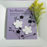 Love Blossoms Personalized Garden Wedding Favor Card With Two Seeded Paper Blossoms - Marry Me Wedding Accessories & Gifts - 1