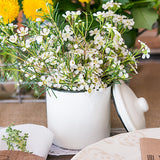 White Enamelware Canister With Lid Favor - Marry Me Wedding Accessories & Gifts