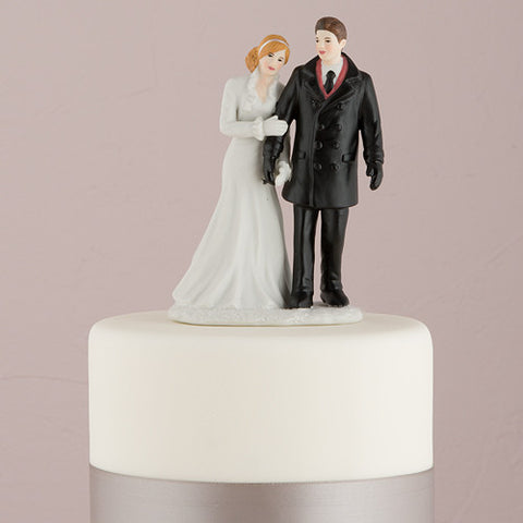 Winter Wonderland Wedding Couple Figurine - Marry Me Wedding Accessories & Gifts