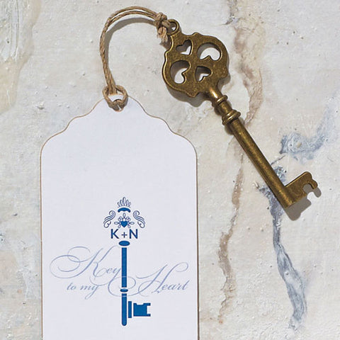 Antique Key Charm - Marry Me Wedding Accessories & Gifts