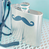 Mustache Stainless Steel Flask - Marry Me Wedding Accessories & Gifts - 3