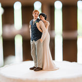 A Sweet Embrace – Bride Embracing Groom Couple Figurine - Marry Me Wedding Accessories & Gifts