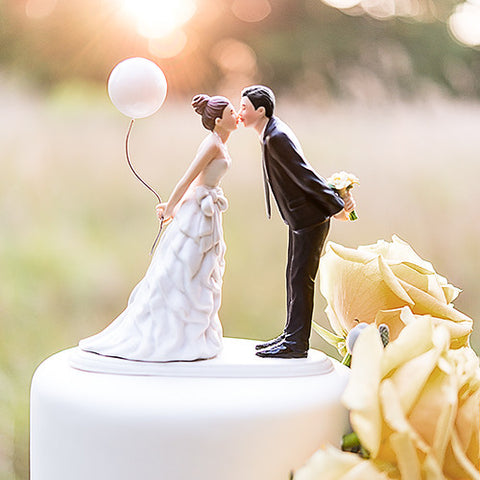 Leaning in for a Kiss - Balloon Wedding Cake Topper - Marry Me Wedding Accessories & Gifts - 1
