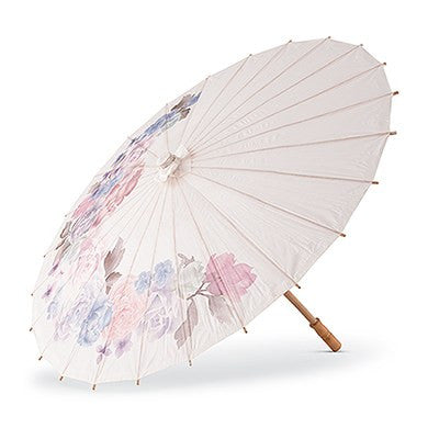 Paper Parasol With Vintage Floral Print - Marry Me Wedding Accessories & Gifts