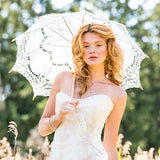 Battenburg Lace Parasol - Standard - White, Antique, or Vintage Pink - Marry Me Wedding Accessories & Gifts