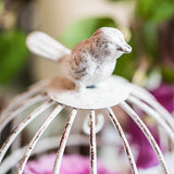 Small Metal Birdcage with Suspended Tealight Holder White - Marry Me Wedding Accessories & Gifts - 3