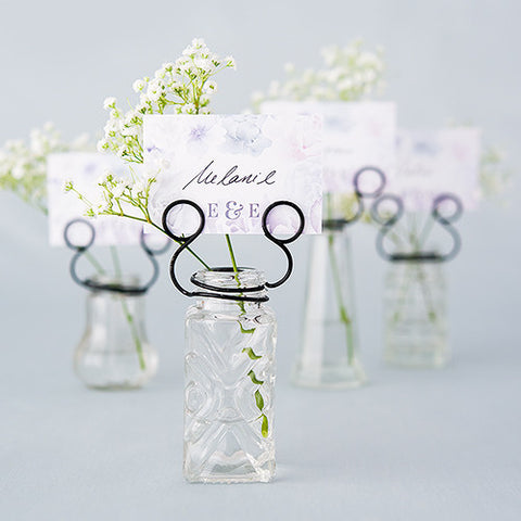 Vintage Inspired Pressed Glass Vases with Stationery Holders - Marry Me Wedding Accessories & Gifts - 1