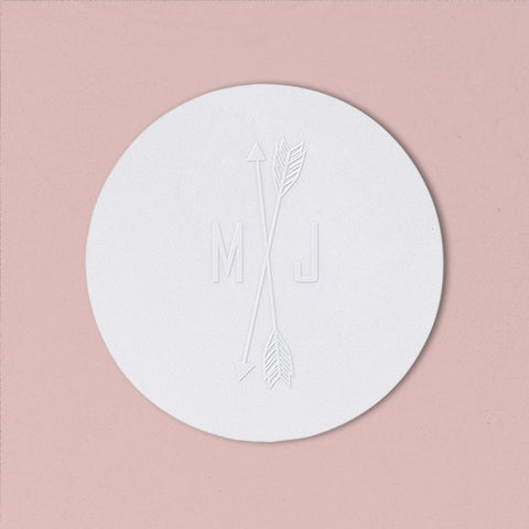 Monogram Personalized Embosser Plates - Marry Me Wedding Accessories & Gifts