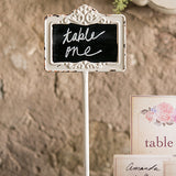 Tabletop Antique White Blackboard Stand White - Marry Me Wedding Accessories & Gifts - 2