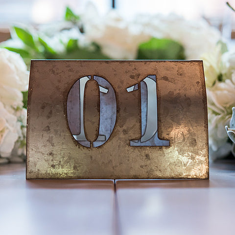 Laser Cut Self Standing Metal Table Number Set Numbers 1-6, 7-12, 13-18 - Marry Me Wedding Accessories & Gifts