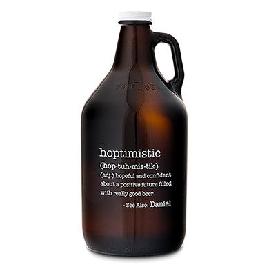 Amber Glass Growler - Hoptimistic Printing - Marry Me Wedding Accessories & Gifts - 1