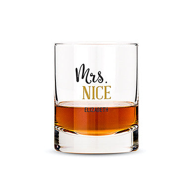 Whiskey Glasses With Mrs. or Mr. Nice Print - Marry Me Wedding Accessories & Gifts - 1
