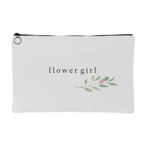 Minimalist Watercolor Floral Accessory Bag - Flower Girl - Marry Me Wedding Accessories & Gifts