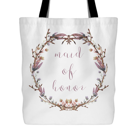 Blushing Wreath Tote - Maid of Honor / Matron of Honor - Marry Me Wedding Accessories & Gifts