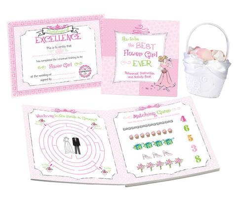 Flower Girl Activity Book - Marry Me Wedding Accessories & Gifts