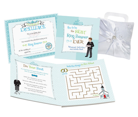 Ring Bearer Activity Book - Marry Me Wedding Accessories & Gifts