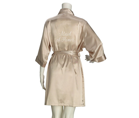 Maid of Honor Satin Robe - Marry Me Wedding Accessories & Gifts