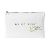 Minimalist Watercolor Floral Accessory Bag - Maid of Honor - Marry Me Wedding Accessories & Gifts