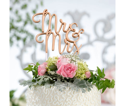 Gold Mr. & Mrs. Wedding Cake Topper - Marry Me Wedding Accessories & Gifts
