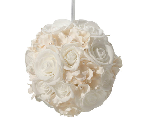 Ivory or Blush Pink Kissing Ball - Marry Me Wedding Accessories & Gifts - 1