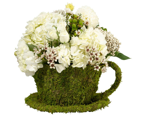 Moss Décor Teacup - Marry Me Wedding Accessories & Gifts