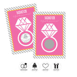 Bridal Shower & Bachelorette Party Scratch Off Game Cards - Marry Me Wedding Accessories & Gifts